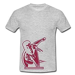 Tischtennis Männer T-Shirt von Spreadshirt, S, Grau meliert