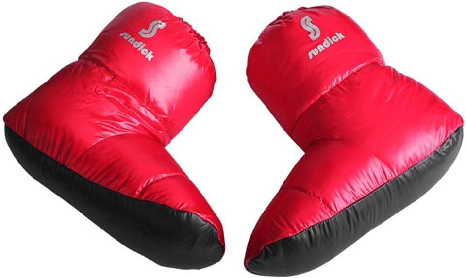 Tentock Mujer//Hombre Abajo Zapatillas Calcetines Botas de Invierno con Aislamiento T/érmico Calzado Multifuncional para Interior Oficina en Casa