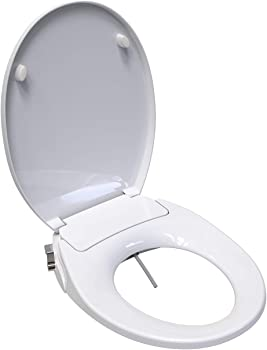 Saniwise Round Bidet Toilet Seat with Self Cleaning Dual Nozzles