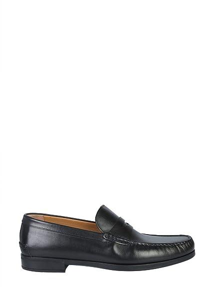 Hugo Boss Hombre 5039800910206647001 Negro Cuero Mocasín: Amazon.es: Zapatos y complementos