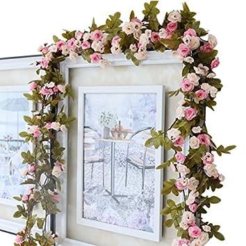 Amazon.de: Rosengirlande, Blumen, Retrostil, 213 cm, Schlafzimmer ...