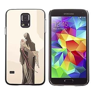 Shell-Star Arte & diseño plástico duro Fundas Cover Cubre Hard Case Cover para SAMSUNG Galaxy S5 V / i9600 / SM-G900F / SM-G900M / SM-G900A / SM-G900T / SM-G900W8 ( Love Death Monster Blonde Beige )