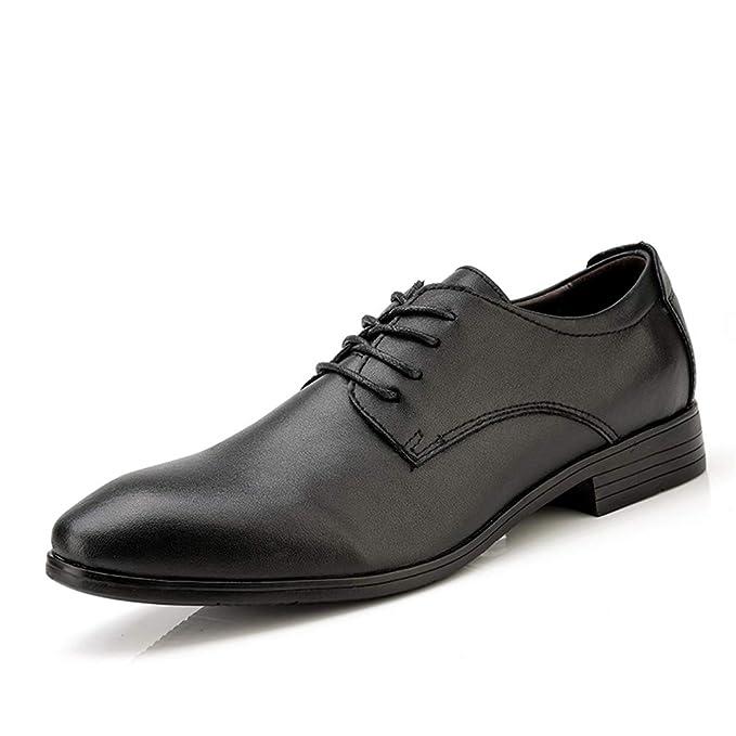 76afa5b64338 Amazon.com: Hilotu Men's Business Shoes Fashion Classic Lace up ...