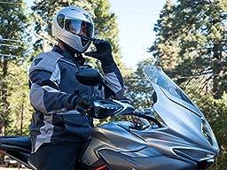 Pilot Motosport ST-17 Full-Face Motorcycle Helmet DOT/ECE (White, Small)