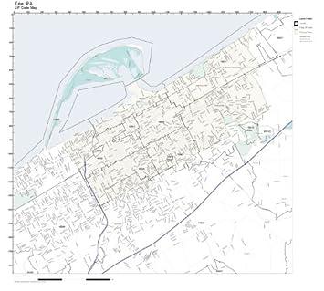 Amazon.com: ZIP Code Wall Map of Erie, PA ZIP Code Map Laminated