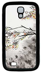 Chinese Paintings Samsung Galaxy S4 i9500 Premium Slim Fit Flexible TPU Case Cover