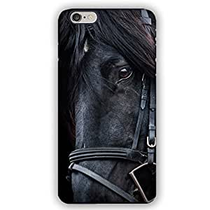 Black Horse with Black Mane in Gear iPhone 6 Armor Phone Case