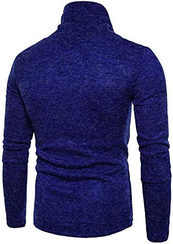 Męski szykowny sweter z rolkowanym kołnierzem bluza sweter dziergany normalny lakier elegancki kołnierz rolowany długi rękaw prosty styl sweter dziergany: Odzież