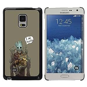A-type Arte & diseño plástico duro Fundas Cover Cubre Hard Case Cover para Samsung Galaxy Mega 5.8 (Soy Gr00t)
