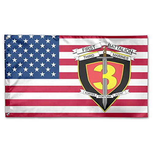 1st Battalion 3rd Marines Yard Flags 3 X 5 in Indoor&Outdoor Decorative Home Fall Flags Holiday - 3rd Marine