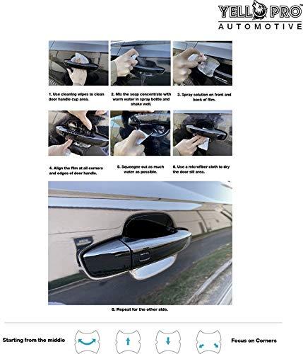 Luxe,Hybrid Luxe,Sport,Red Sport 400 Sedan YelloPro Custom Fit Door Handle Cup 3M Scotchgard Anti Scratch Clear Bra Paint Protector Film Cover Self Healing Guard Kit 2018 2019 2020 Infiniti Q50 Pure