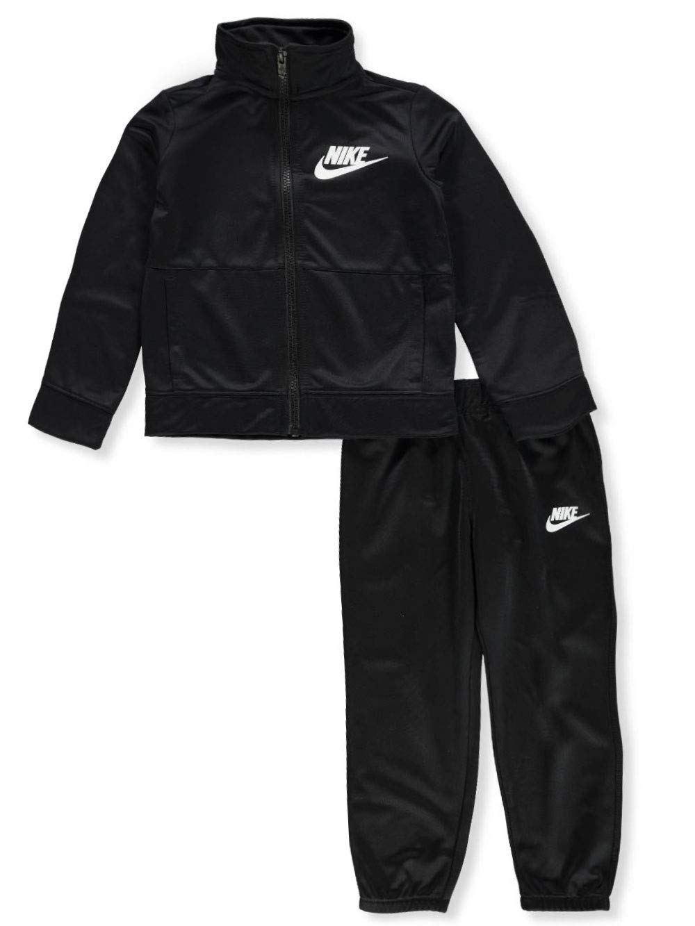 Nike Boys' 2-Piece Tricot Tracksuit Pants Set Outfit - Black, 3t