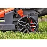 BLACK+DECKER Electric Lawn Mower, 10 -Amp, 15-Inch (BEMW472BH) 22 IMPROVED ERGONOMICS: Comfort grip handle makes the lawn mower easy to maneuver BETTER CLIPPING COLLECTION: Our winged blade achieves 30% better clipping collection NO MORE PULL CORDS: Push-button start makes starting the lawn mower a breeze