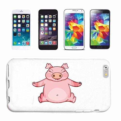 """cas de téléphone iPhone 6S """"FUNNY PIG barbecue Glücksschwein domestiques PIG SANGLIER PORCELETS"""" Hard Case Cover Téléphone Covers Smart Cover pour Apple iPhone en blanc"""