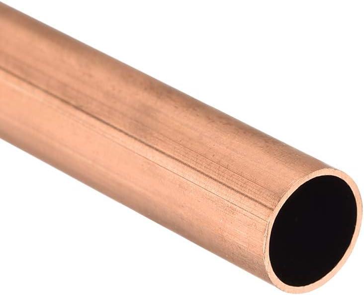sourcing map Cuivre Rond Tube 9mm OD 0.5mm Mur /Épaisseur 300mm Long Creux Droit Tube Tubes