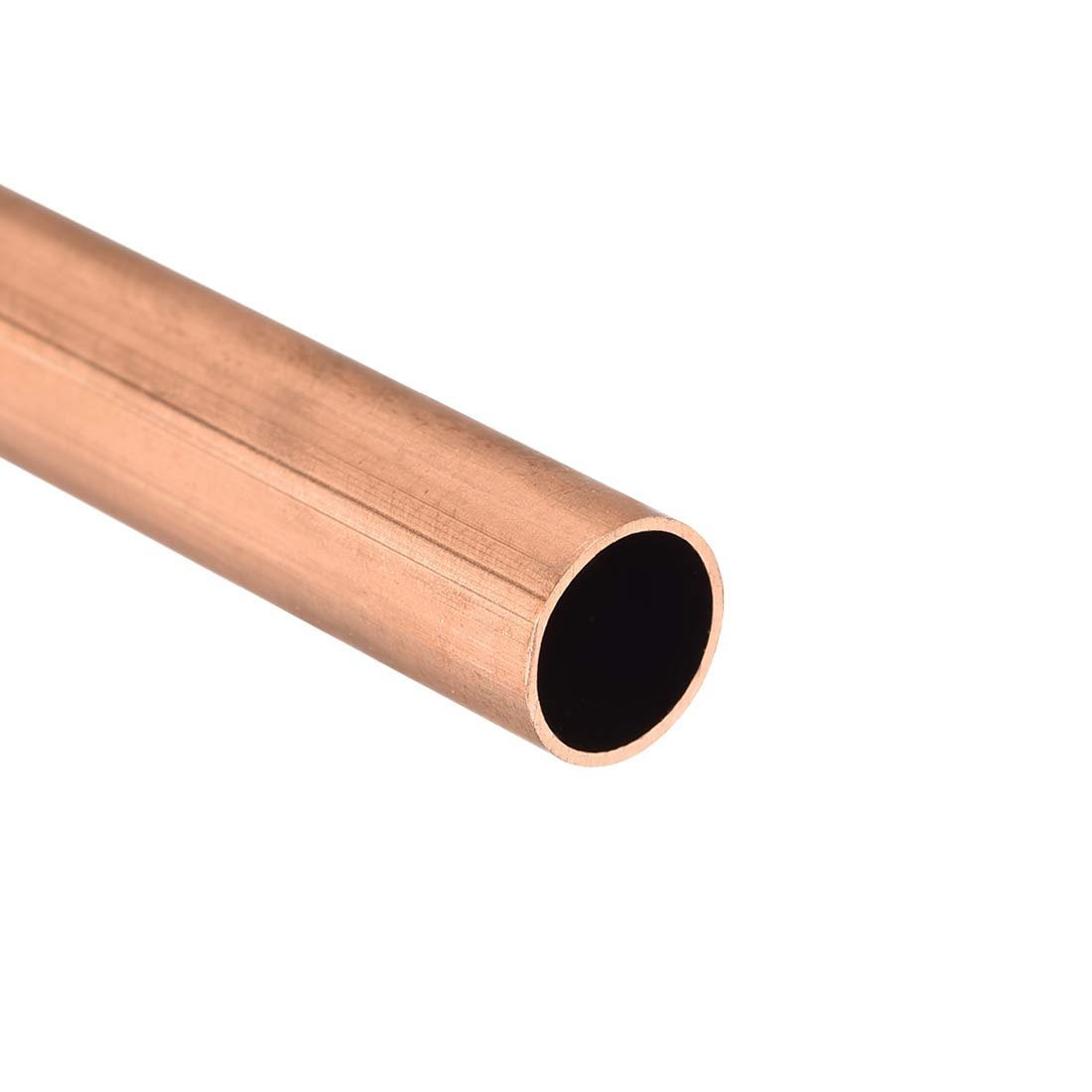 uxcell Copper Round Tube 9mm OD 0.5mm Wall Thickness 300mm Long Hollow Straight Pipe Tubing 3 Pcs