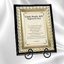 Nursing School Nurse Practitioner Poetry Gift Wall Poem Plaque with Gold Metal Designer Border Easel Registered RN LVN BSN Graduation