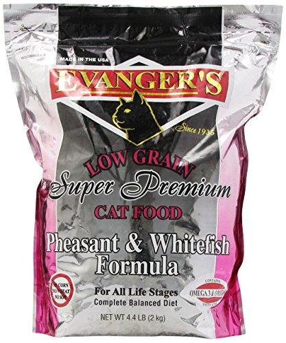 EVANGER'S 776021 Pheasant and White fish Dry Cat Food, 4.4-P