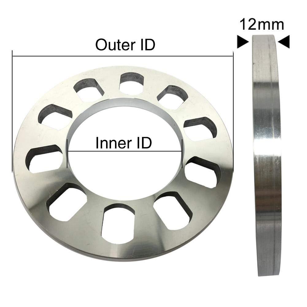 Adaptateur de Roue en Aluminium pour Entretoise De 5mm SinceY Entretoises de Roues /Élargisseurs de Voie Entretoise de Roue en Alliage Elargisseur de Voie 5 X 163MM, 2PCS