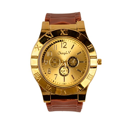 inkint Multifunction Watch Lighter Novelty Windproof Cigarette Cigar Lighter Digital Rechargeable Wristwatch with USB Charging Cable (Golden)