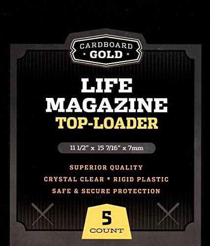 Cardboard Gold Life Magazine Toploaders - 5ct Pack