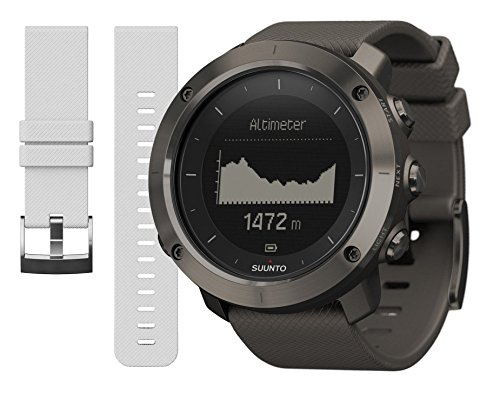 Suunto Traverse GPS Graphite and White Replacement Band Bundle