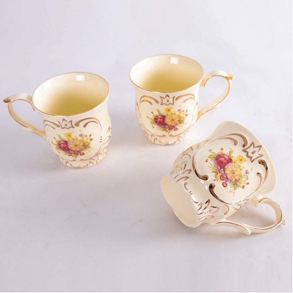 Korean Pottery and Buncheong Tea Cups 4 Pack, 7 oz GYUDAMYO Ceramic Stackable Handmade Teacup Set