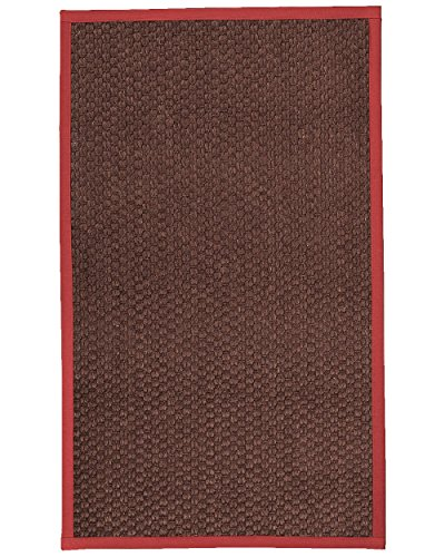 Border Tales (NaturalAreaRugs Talas Sisal Area Rug 3' x 5' Red Border)
