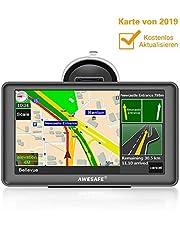 AWESAFE GPS Navi Navigation 7 Zoll Touchscreen für Auto PKW LKW Navigationsgerät 2019, Lebenslang Kostenloses Kartenupdate