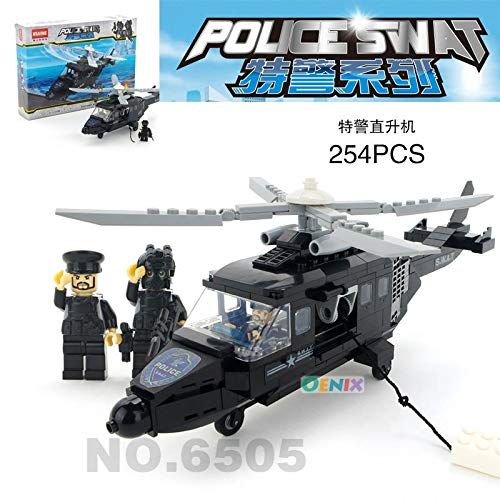 PampasSK Blocks - City Police SWAT Station Helicopter Armored car Building Blocks Compatible Construction Brick Children Toys Set 1 PCs