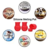 Atsky Silicone Melting Pot for Chocolate, 3 Pack