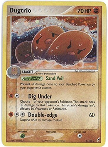 Pokemon EX Crystal Guardians #5 Dugtrio Holofoil Card [Toy]