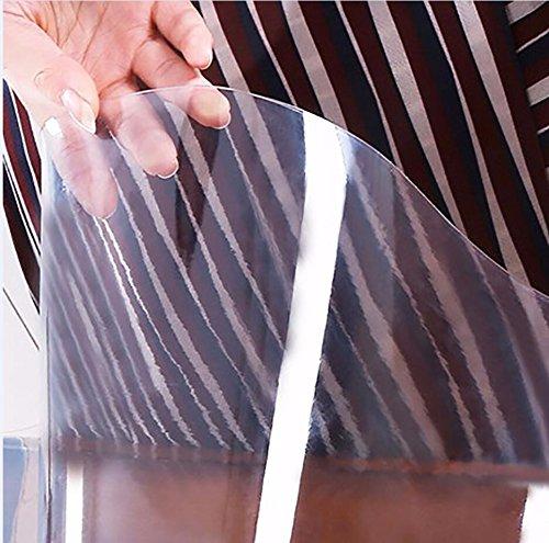 Long120cm Wide 70cm 5 IN 1 TABLE Einfache und transparente PVC-House Restaurant Tabelle Wasserdicht und Bügeln Tischdecke (Dicke  1 mm), Länge 120 cm Breite 70 cm