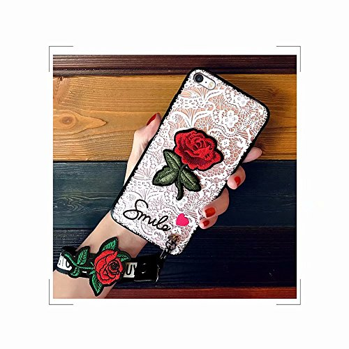Encaje Carcasa Pulgada MingKun iPhone iPhone 2 Funda Fundas 4 7 6 6S Transparente TPU iPhone Suave Rose 6S para Silicona qwTBwap