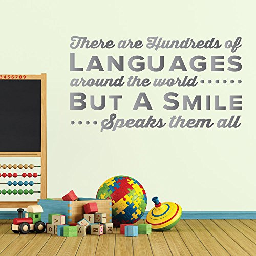 There Are Hundreds Of Languages Around The World But A Smile Speaks Them All. - 0341 - Home Decor - Wall Decor - Dental - Dentist - Teeth - Oral Hygiene - Happy