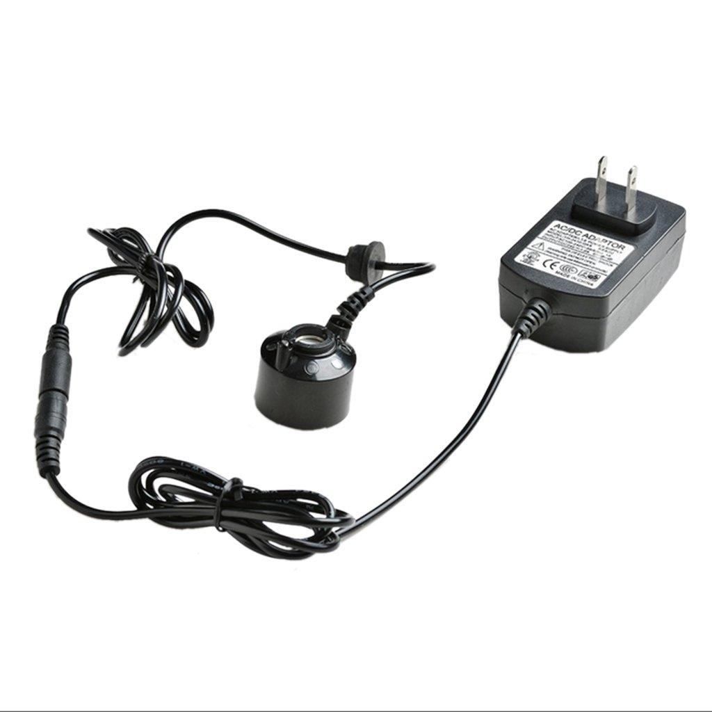 MagiDeal Electric 1-Head 6-LED Mist Maker Fog Machine Atomizer Fogger Water Fountain US Plug