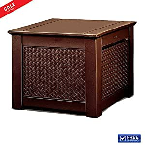 Resin Rattan Deck Box Patio Garden Outdoor Storage Cube Pool Wicker Organizer Weave Pattern All Weather Storage Solution for Pool Equipment Patio Pillows Backyard Toys Garden Tools eBook by BADA shop