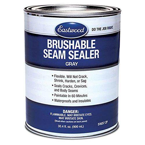 (Eastwood Flexible Insulated Waterproof Brush on Seam Sealer Floor Trunk Fender 30.4 oz )
