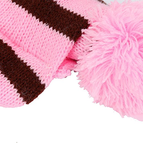 1 Set Pets Pet Dog Puppy Pet Accessories Cats Hats Scarf Socks Warm Comfortable Breathable Christmas Gift Dog Scarf Dog Neckerchief Saliva Towe Dog Bibs Dog Bandana Scarf (Pink, XXS) by succeedtop (Image #3)