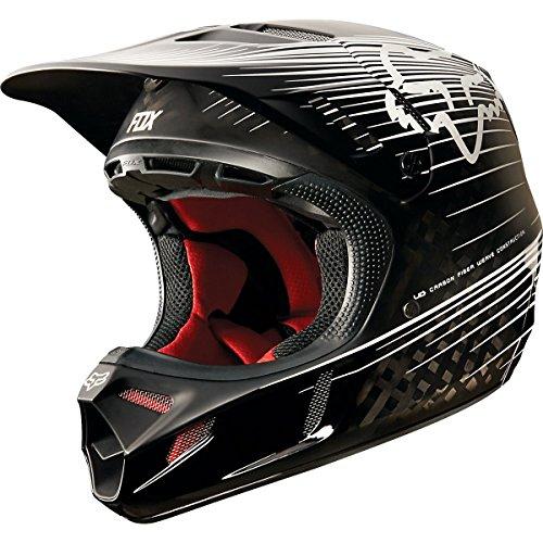 Fox-Racing-Carbon-Reveal-Mens-V4-Motocross-Motorcycle-Helmet-Black