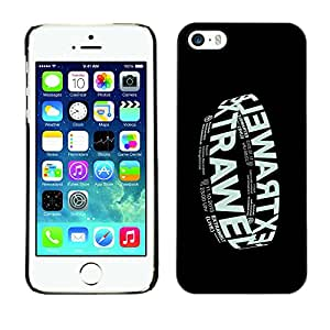 Shell-Star Arte & diseño plástico duro Fundas Cover Cubre Hard Case Cover para Apple iPhone 5 / iPhone 5S ( Electronic Music Band Black Poster )
