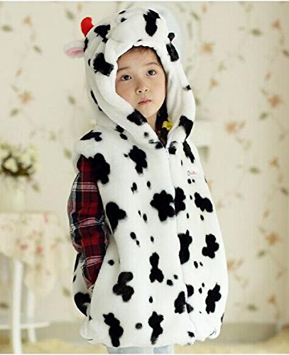 Toddler Cow Cuddly And Costumes Baby (Bettyhome Unisex-baby Fashion Vest with Animal Hoodie for Kids - Dress Up Costume - Pretend Play (S Size (Height: 31.5