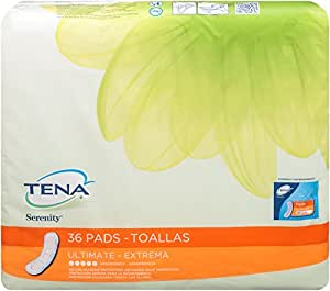 TENA Serenity Ultimate Pads, Regular, 36 Count