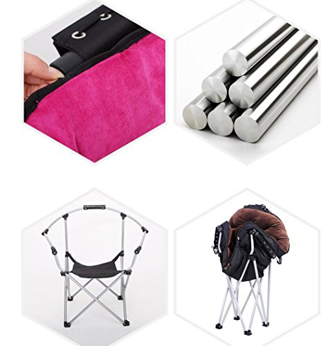 Folding chair / computer chair / home student dormitory chair / home fashion chair / folding chair / lazy sofa / adjustable folding chair / multi-color optional folding chair / ( Color : C ) by Folding chair (Image #2)
