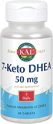 KAL 7-Keto DHEA 50mg Healthy Weight Management Support for Women Men* Rapidly Disintegrating Tabs 30ct, 30 Serv.