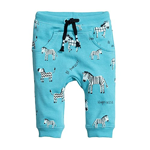 Little Boys' Zebra Print Cotton Sweatpants Long Pants Pull On Active Joggers Size 5T (Boys Sweatpants Size 18)