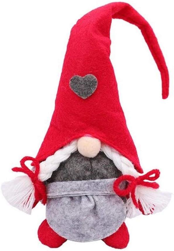 Gods pens Handmade Swedish Santa Gnome Plush,Santa Scandinavian Gnome Plush Doll Birthday Present for Holiday Home Ornaments Christmas Santa Xmas Decoration Table Decor