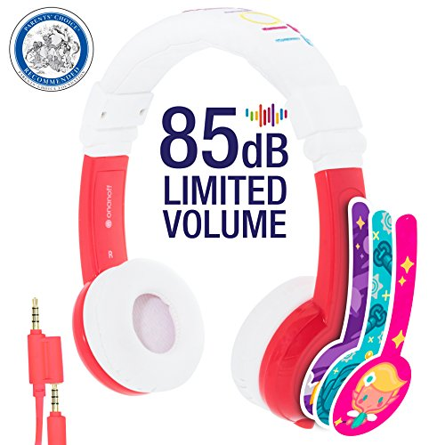 Explore Foldable Volume Limiting Kids Headphones - Durable, Comfortable & Customizable - Built in Headphone Splitter and In Line Mic...