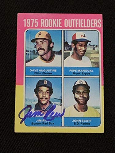 Hof Jim Rice 1975 Topps Rookie Signed Autographed Card #616 Boston Red Sox - Baseball Slabbed Autographed Cards
