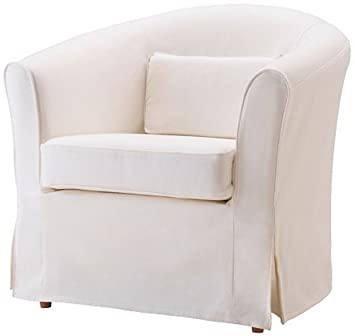 Stupendous Easy Fit The Ektorp Tullsta Chair Cover Replacement Is Custom Made For Ikea Tullsta Cover A Armchair Sofa Slipcover Replacement White Cotton Pabps2019 Chair Design Images Pabps2019Com